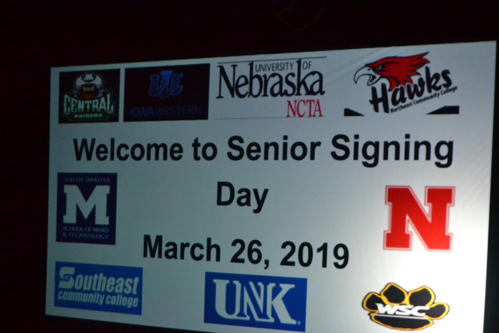 S-RC Recognizes Seniors on Signing Day