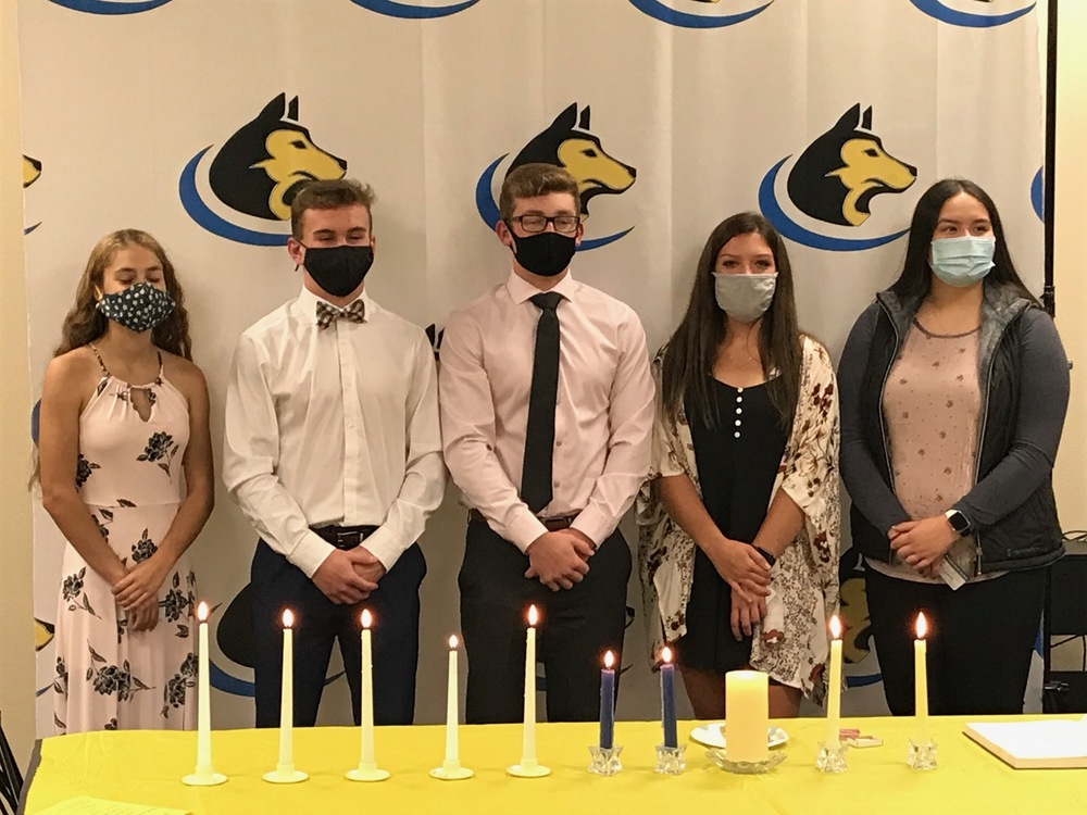 NHS Inducts 5 new members
