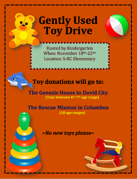Toy Drive Novemeber 18th-22nd
