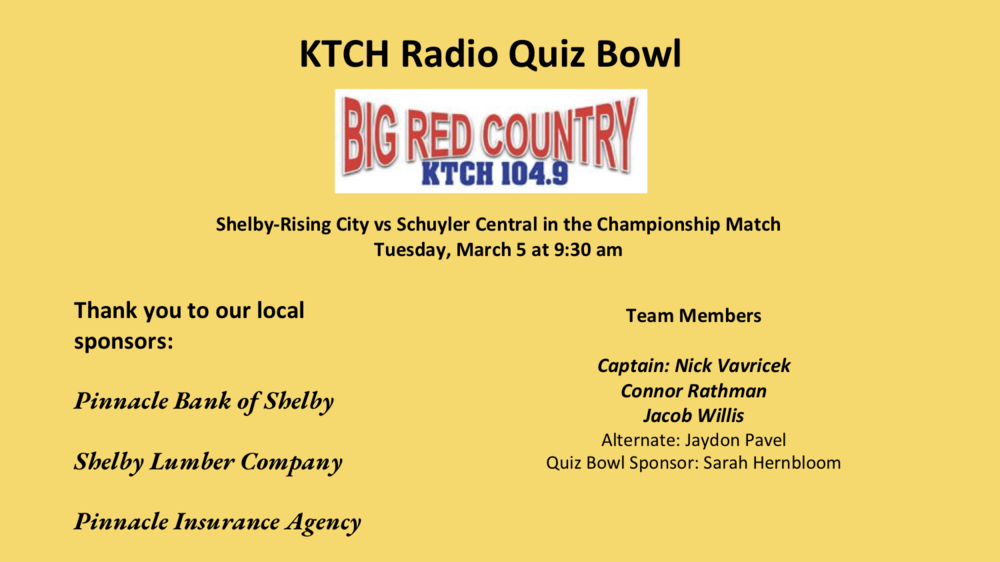 Radio Quiz Bowl Plays for Championship