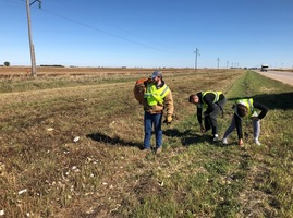 SRC National Honor Society Highway Clean up