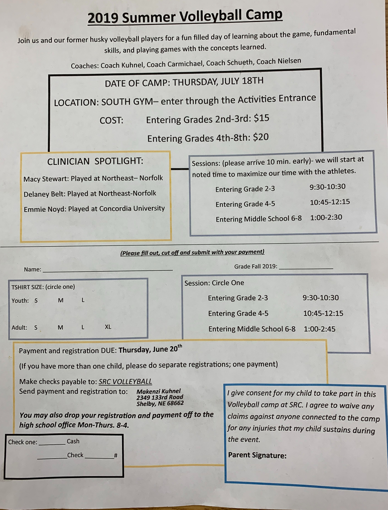 Camp form- also available in the school office.