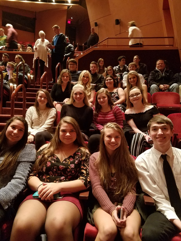 High school students at Phantom of the Opera