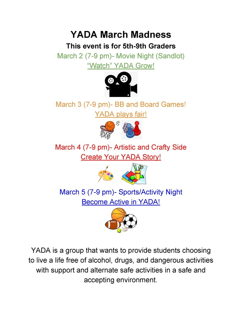 YADA March Madness Activities