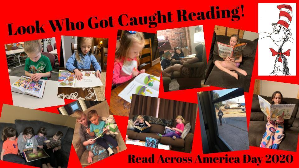 These S-RC students got caught reading at home! Happy National Read Across America Day, and happy birthday, Dr. Seuss!