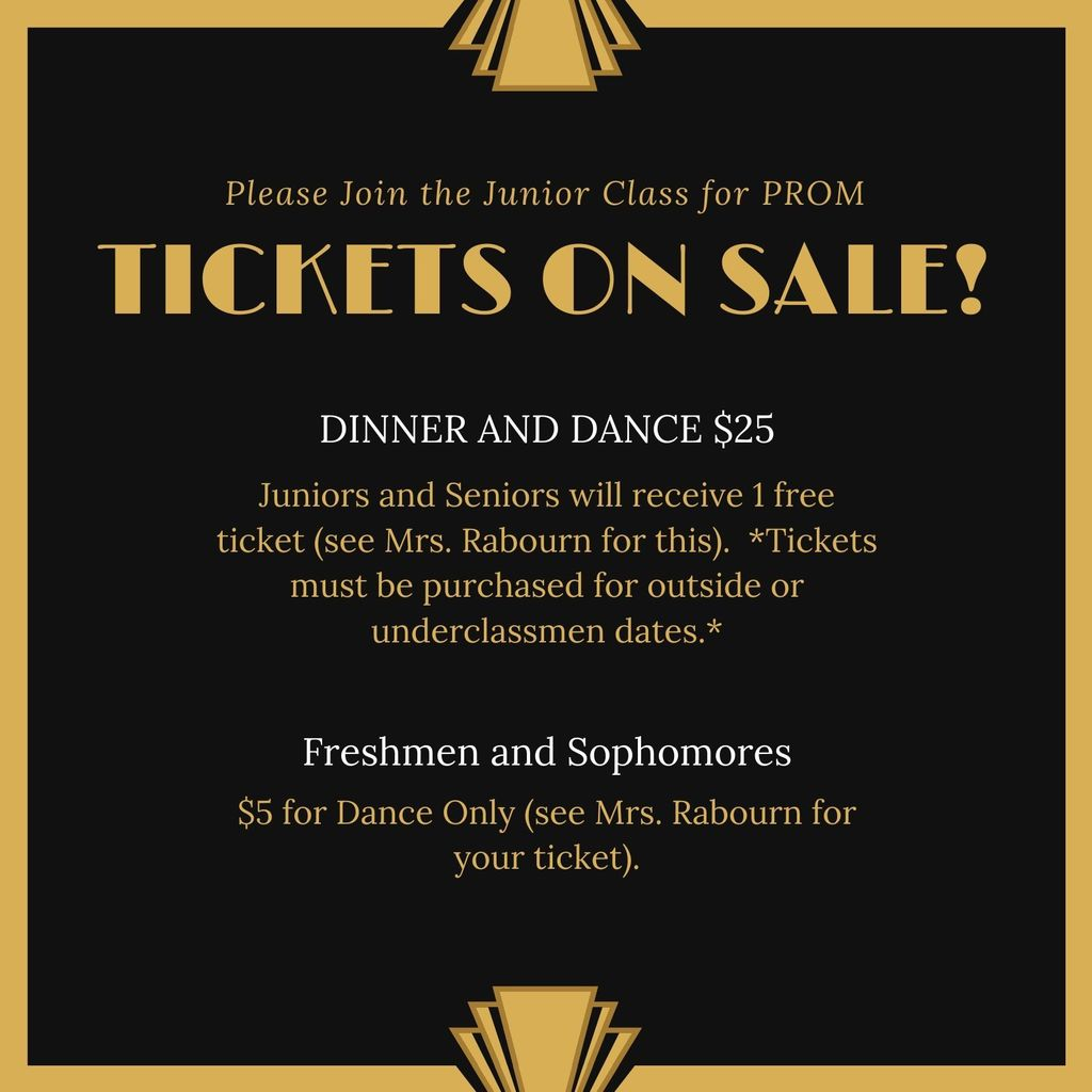 Prom Tickets on Sale